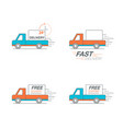 delivery icon set pickup service order 24 hour