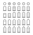 different types windows eps10 vector image