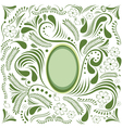Easter green card vector image