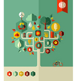 Eco conservation city tree vector image vector image