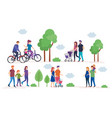 family members in the park vector image