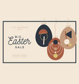 festive sale easter card with eggs decoration vector image vector image