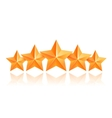 Five 3d gold stars premium The best reward vector image vector image