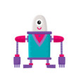flat cartoon big funny male robot isolated vector image