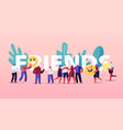 friendship and friends concept tiny people group vector image