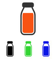 full bottle flat icon vector image