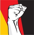 Germany fist vector image vector image