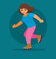 girl in pink trousers rides yang aroliki dark vector image vector image