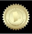 Gold star label Rhode Island vector image vector image