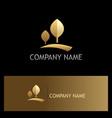 golden tree nature logo vector image