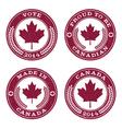 Grunge Canada Maple Leaf Emblems vector image vector image