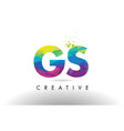 gs g s colorful letter origami triangles design vector image vector image