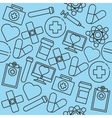 Hand drawn Medical pattern vector image vector image