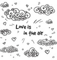 hand drawn romantic sky concept vector image vector image