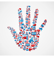 I vote in USA elections icons hand vector image vector image