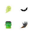 icon flat celebrate set of ghost zombie corpse vector image vector image