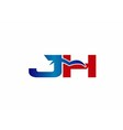 J and H logo vector image vector image