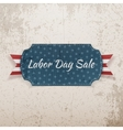 Labor Day Sale festive paper Tag vector image vector image
