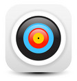 minimal modern archery target icon vector image