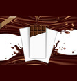 mockup advertising chocolate a bar of chocolate vector image vector image