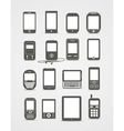 Modern and vintage mobile gadgets vector | Price: 1 Credit (USD $1)