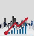Modern design graph Business graph to success with vector image vector image