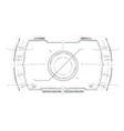 navigation system hud interface design vector image vector image