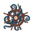 octopus holding a helm tattoo style vector image vector image