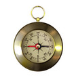 old-fashioned retro brass compass realistic vector image