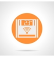 Orange wireless climate control round icon vector image vector image