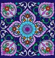 original floral ornament motives russian decor vector image vector image