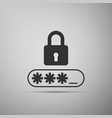password protection icon on grey background vector image vector image