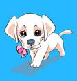 puppy dog labrador retriever vector image vector image