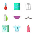 purge icons set cartoon style vector image vector image