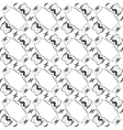 Seamless pattern in islamic style black and white vector image vector image
