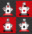 set of poker cards casino vector image vector image