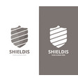 shield logo combination security and vector image vector image