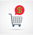 shopping cart trendy symbol trendy colored vector image vector image