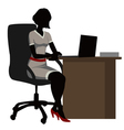 silhouette office woman vector image vector image