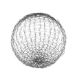 Sphere from lines Wireframe mesh polygonal element vector image vector image