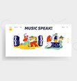 stylish characters modern musicians performing on vector image