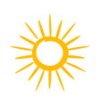 sun icon hot weather and warm symbol vector image vector image