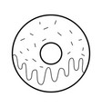 sweet donut dessert bakery food vector image