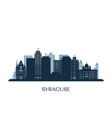 syracuse skyline monochrome silhouette vector image vector image