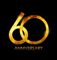template 60 years anniversary congratulations vector image vector image