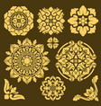 thai traditional ornament and frame borders vector image vector image