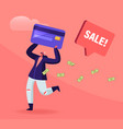 total sale and festive discount concept tiny vector image vector image