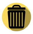 trash sign flat black icon vector image