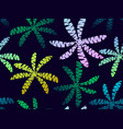 tropical palm leaves with gradient seamless vector image