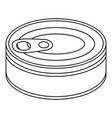 tuna can icon outline style vector image vector image